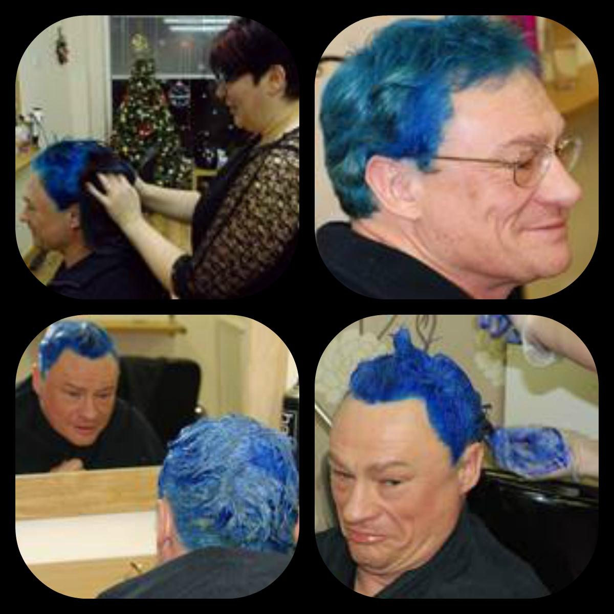 diabetes fundraising idea blue hair